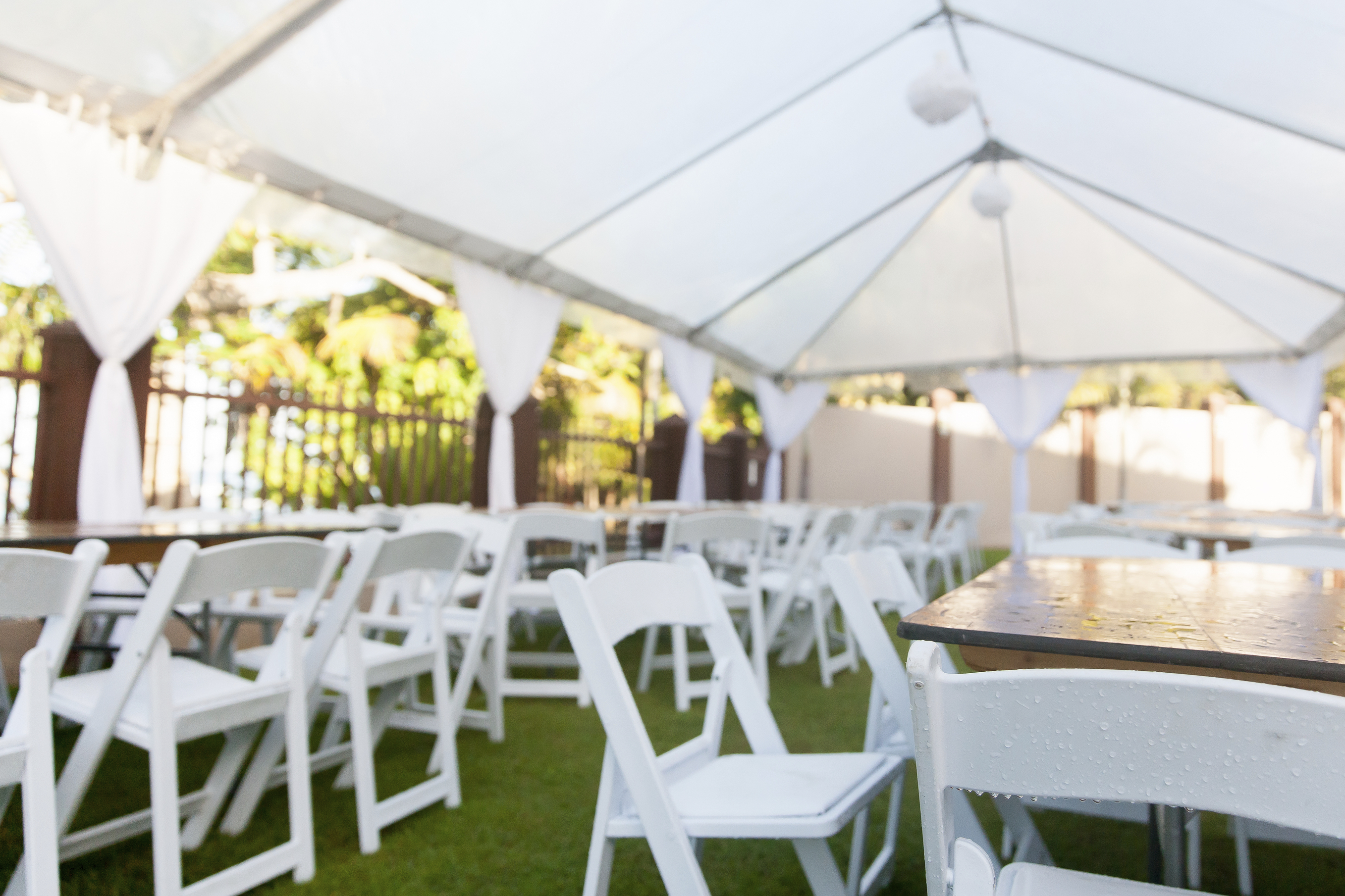 Tables and Chairs Belleville Tent Table and Chair Rentals