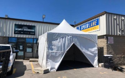 Tent for Belleville Dodge Chrysler customers
